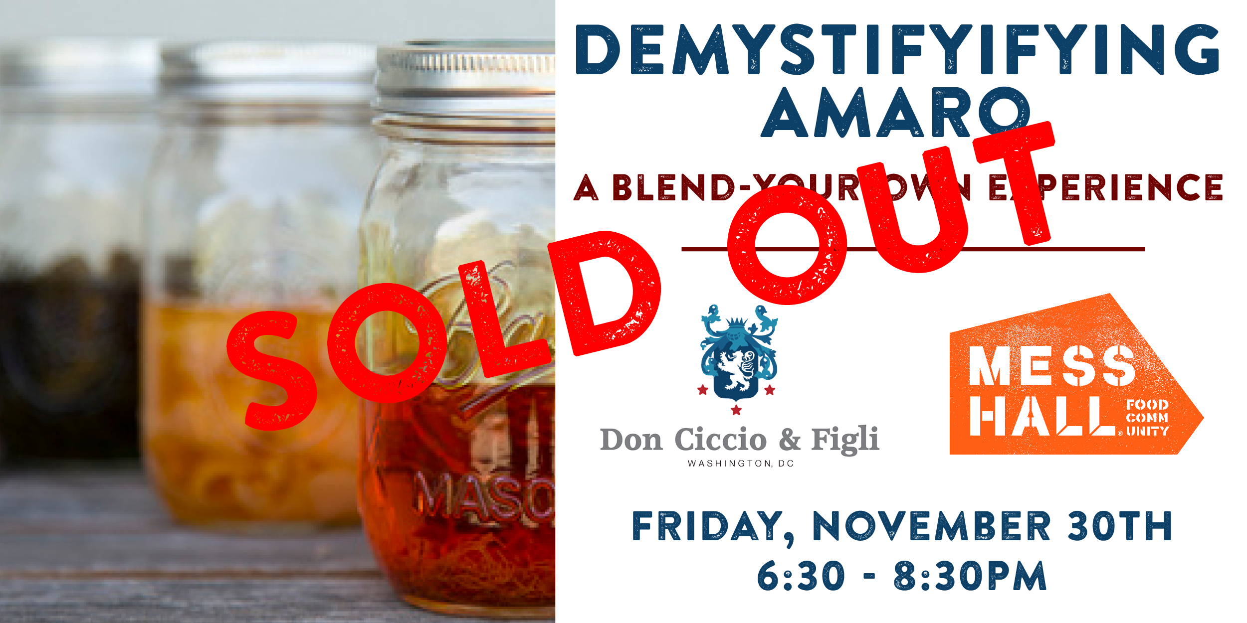 Demystifying Amaro, Friday, November 30th - Click for tickets